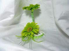 Signature Green Wedding Guestbook Flower Pen by TheWeddingPetal, $21.99