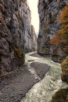 River Aar Gorge in canton of Bern, Switzerland  (by Caeduiker )