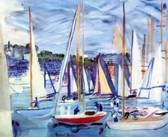The Basin of Deauville - Raoul Dufy - The Athenaeum