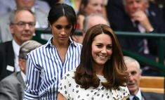 Duchess Kate looks incredible in Jenny Packham as she returns to Wimbledon – with Duchess Meghan by her side!