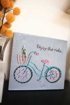 STRING ART Bicycle String Art Enjoy the by EveryStringAttached