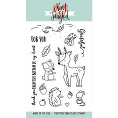 These animals are so cute!  Neat and Tangled INTO THE WOODS Clear Stamp Set