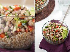 Si te gustan las preparaciones frescas te encantará esta deliciosa receta de ensalada de judías y arroz con instrucciones paso a paso.