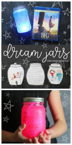 Disney's The Bfg movie dream jars activities with free printables