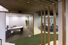 MVN Arquitectos has developed a new office space design for global insurance firm Aegon located in Madrid, Spain. From AEGON values borns a new conception Office Space Design, Workplace Design, Visual Merchandising, Design Furniture, Stores, Madrid, Offices, Channel, Arrow Keys