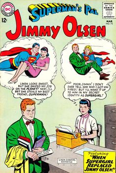 Cover story: Linda Danvers (alias Supergirl) gets a job at the Planet - at Jimmy's expense! Also in this issue: Meet Jimmy's father - behind bars!