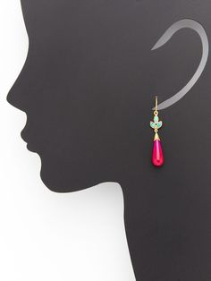 Contessita Turquoise & Pink Chalcedony Earrings by Eddera at Gilt