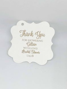 """Excited to share the latest addition to my #etsy shop: Beautiful 2"""" Thank You For Showering Baby Bridal Shower Metallic Gold Foil Favor Tags  http://etsy.me/2D5Vk86 #weddings #invitation #blue #gold #foilweddingtags #weddingfavortags #foilfavourtags #paperpartysupplies"""