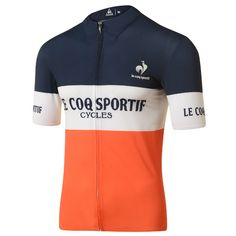 Buy your Le Coq Sportif Ares Short Sleeve Jersey - Jerseys from Wiggle. Cycling Wear, Cycling Jerseys, Cycling Outfit, Women's Cycling, Cycling Clothing, Racing 92 Rugby, Bike Kit, Vintage Cycles, Bike Shirts