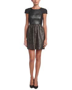4.collective Herringbone A-Line Dress