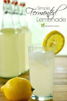 Simple Fermented Lemonade: