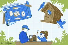 A huge list of free DIY bird house plans that you can build for a few dollars and finish in an afternoon. All plans include diagrams and instructions.
