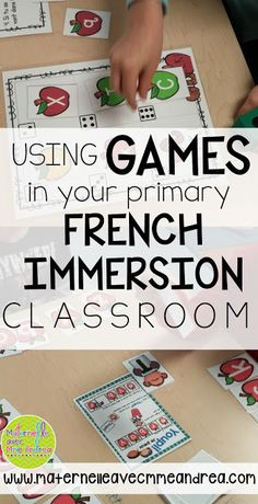 Classroom tips & tricks, resources and teaching ideas for the primary French classroom - immersion or French first-language French Lessons, Spanish Lessons, How To Speak French, Learn French, Teaching French Immersion, French Teaching Resources, Teaching Ideas, Teaching Spanish, Learning Resources