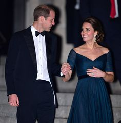 Prince William holding Duchess Kate's hand as they leave the St. Andrews Anniversary Dinner in New York City while she was�pregnant with Charlotte. (Photo by James Devaney/GC Images)  via @AOL_Lifestyle Read more: https://www.aol.com/article/news/2017/04/16/trump-is-insisting-on-riding-in-queens-golden-carriage-during-s/22042197/?a_dgi=aolshare_pinterest#fullscreen