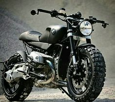 Custom BMW Scrambler Cafe by Lazareth Auto Moto Bmw Scrambler, Motos Bmw, Scrambler Custom, Bmw Motorbikes, Harley Davidson Sportster, Bmw Cafe Racer, Retro Bikes, Custom Bmw, Custom Bikes