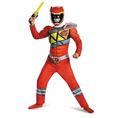 disguise  red  Ranger  dino  charge  classic  muscle  costume  medium  7  8