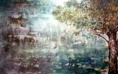 A stunning new piece of art from one of my favourite artists, Brian Rolfe. The serenity of this painting, called Shepherd's Tree, is quite . Serenity, Art Pieces, Writing, Abstract, Artist, Artwork, Work Of Art, Summary, Artists