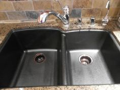 How to clean a granite composite sink.