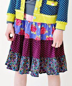 Look at this #zulilyfind! Plum Brushstroke Gentry Skirt - Toddler by Matilda Jane Clothing #zulilyfinds
