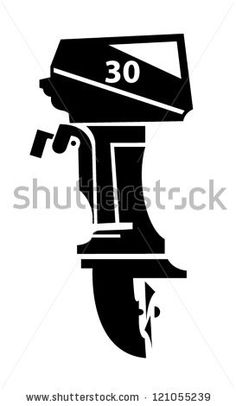 Outboard boat motor vector illustration - stock vector