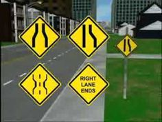 Traffic Control Devices: A computer generated video, which demonstrates and explains traffic control devices - signs, traffic signals, and pavement markings. Drivers Ed, Driving Safety, Learning To Drive, Education, American, Videos, Youtube, Cars, Onderwijs