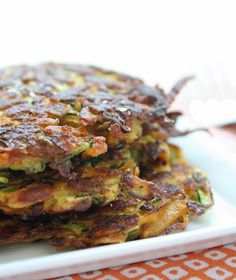 Zucchini & Sweet Potato Latkes -- making these this weekend and serving spinach, natural Canadian bacon, and egg over them. Delish version of Benedict.