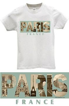CitySouvenirs.com - Paris Photo Apparel, $9.99 (http://www.citysouvenirs.com/paris-photo-apparel/) Paris, France Apparel Transport yourself to Paris, the City of Light, with our exclusive French T-Shirt.   Featuring Notre Dame Cathedral, Basilica of the Sacred Heart (Sacre Coeur), the Eiffel Tower, L'Arc de Triomphe and the Louvre Museum in artistic sepia tones, it makes a great gift for yourself or someone you love.
