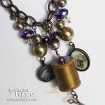 Spool Necklace by Jennifer Priest for Connie Crystal