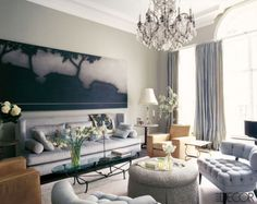 Room designed by Jean Louis Denoit and featured in Elle Decor