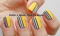 amarillas con lineas