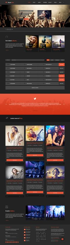 Music Hub is the best template for #music, club, #party, radio stations, #bands, events or #blogging . This theme is compatible with #Bootstrap 3 Framework.