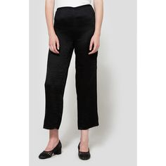 Tibi Accordian Acetate Pant (€395) ❤ liked on Polyvore featuring pants, wide leg trousers, wide leg cropped pants, pleated wide leg pants, pleated pants and wide leg pants