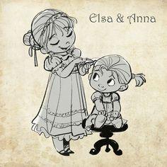 Elsa & Anna [la reine des neiges]