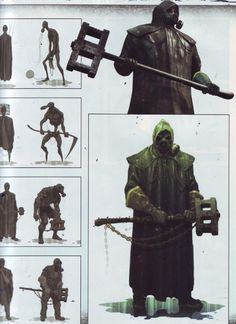 "Concept Arts for the Boogeyman, one of the ""characters"" of Silent Hill: Downpour"