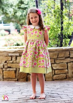 The Cottage Mama Pattern Tour – Georgia Vintage Dress (I'm sad to think my little girl is to grown up for this dress :(