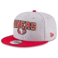 31165111 New Era San Francisco 49ers Heather Gray/Scarlet 2018 NFL Draft Official  On-Stage