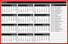 2019 holiday calendar india