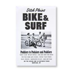 Bike & Surf Roadside Sign Poster Print