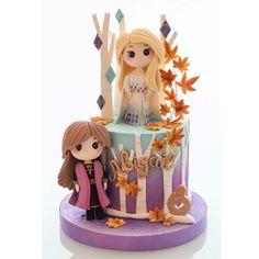 Girly Cakes, Fancy Cakes, Mini Cakes, Bolo Frozen, Frozen Cake, Frozen Birthday Party, 2nd Birthday, Disney Princesses, Cravings