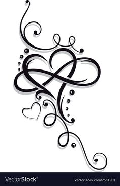 Heart and infinity Royalty Free Vector Image - VectorStock Heart With Infinity Tattoo, Infinity Tattoo Designs, Infinity Tattoos, Heart Tattoo Designs, Infinity Symbol, Mini Tattoos, Leg Tattoos, Flower Tattoos, Body Art Tattoos