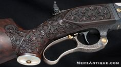 THE FINEST KNOWN ENGRAVED SAVAGE RIFLE
