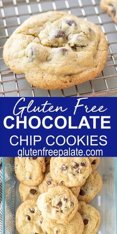Gluten Free Chocolate Chip Cookie Recipe, Gluten Free Sugar Cookies, Gluten Free Cookie Recipes, Keto Chocolate Chips, Gluten Free Sweets, Chocolate Chip Recipes, Keto Cookies, Gluten Free Baking, Simple Chocolate Chip Cookies