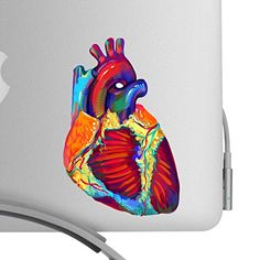 Beautiful Human Heart Artistic Full Color Post Impressionist Painted Style 5 Inch Decal -Fits All MacBooks or Any Laptop-For Indoor or Outdoor Use Bent Wookie http://www.amazon.com/dp/B00UQM0B3S/ref=cm_sw_r_pi_dp_vtw5vb1RQZRDN