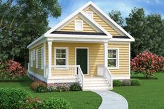 Cottage Style House Plan - 2 Beds 1 Baths 966 Sq/Ft Plan #419-226 Exterior - Front Elevation - Houseplans.com