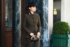 equestrian-esque tweed suit