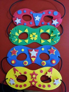 non-specific super hero masks allow children to make up their own super power(s) - idea inspired by my friend KG