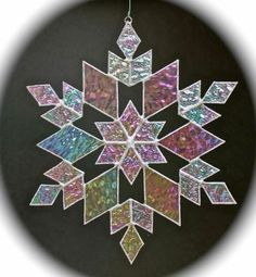 Stained Glass Snowflake 17 Pattern
