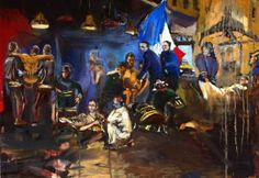 """Saatchi Art Artist Giovanni Scifo; Painting, """"In the alley of the madness"""" #art"""