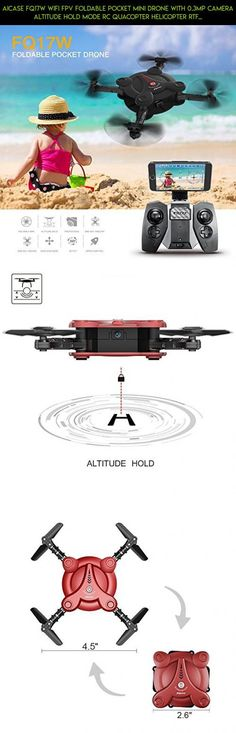 AICase FQ17W WIFI FPV Foldable Pocket Mini Drone With 0.3MP Camera Altitude Hold Mode RC Quacopter Helicopter RTF with Remote Control - Red #racing #drone #tech #fpv #power #parts #shopping #3 #products #battery #kit #camera #technology #plans #yuneec #gadgets