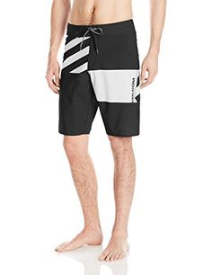 Volcom Mens Lido Block Mod 21 Boardshort BlackWhite 30 ** To view further for this item, visit the image link-affiliate link.